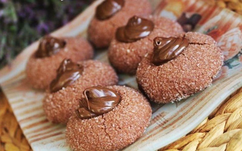 Ortası Çikolatalı Kurabiye Tarifi