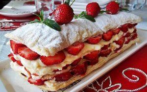 Muhallebili Milföy Pasta Tarifi