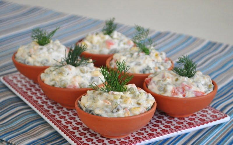 Patatesli Rus Salatası Tarifi