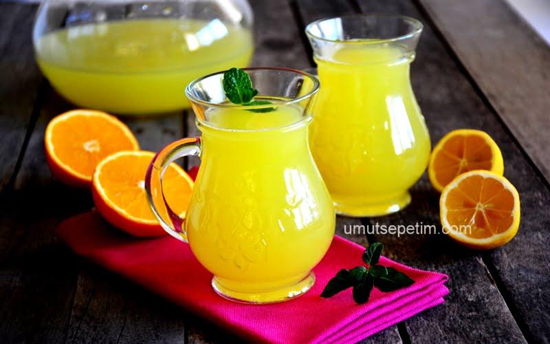 1 Limon 1 Portakal İle 3 Litre Limonata Tarifi